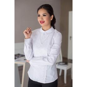 Блуза женская 054, цвет белый, р-р 42, рост 164