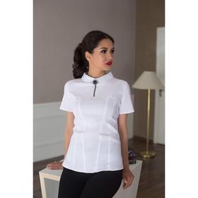 Блуза женская 057, цвет белый, р-р 50, рост 164