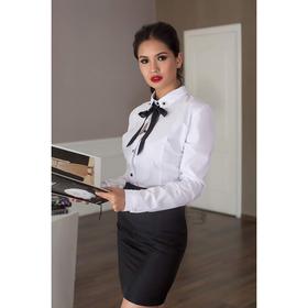 Блуза женская 065, цвет белый, р-р 44, рост 164