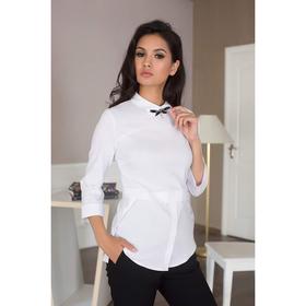 Блуза женская 089, цвет белый, р-р 46, рост 164