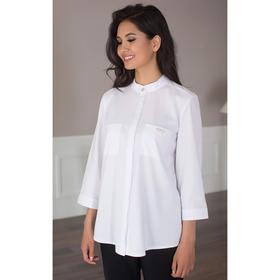 Блуза женская 091, цвет белый, р-р 48, рост 164