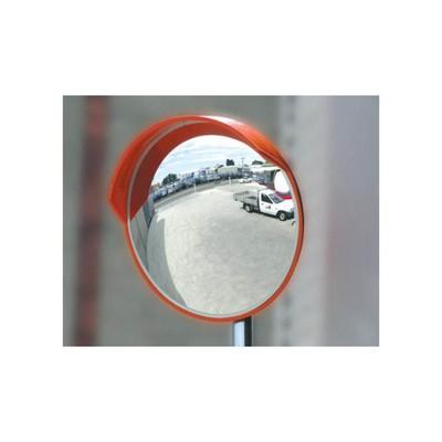 Зеркало дорожное круглое, с защитным козырьком d600 мм, с креплением для трубы