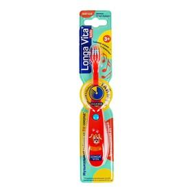 Зубная щетка детская Longa Vita 'Забавные Зверята' F-85C, музыкальная, 3-6 лет, красная Ош