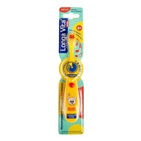 Зубная щетка детская Longa Vita 'Забавные Зверята' F-85C, музыкальная, 3-6 лет, жёлтая Ош