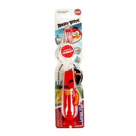 Зубная щетка детская Longa Vita Angry Birds TWA-1, мигающая, на присоске, красная Ош