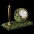 Часы-шар, с пеналом на прямоугольной подставке, серпент