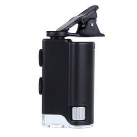 Микроскоп карманный Kromatech 60-100x мини, с креплением для смартфона, подсветкой (1 LED) Ош