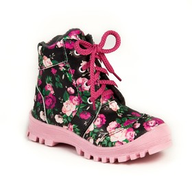 Ботинки дошкольные арт. 70412 (чёрный/розовый) (р.28)