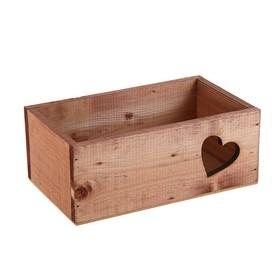 """Ящик """"Сердца"""", венге, 24.5 х 14.5 х 9 см"""