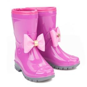"""Сапоги резиновые """"Очаровашка"""" размер 22, фиолет+роз"""