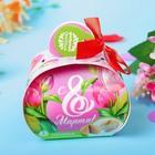 """Печенье с предсказаниями в коробочке """"С 8 Марта"""" тюльпаны"""