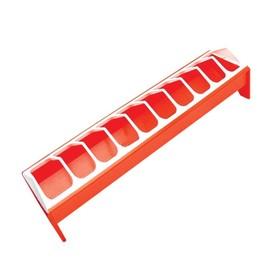 Кормушка - поилка для кур, лотковая, пластик, 50 см Ош