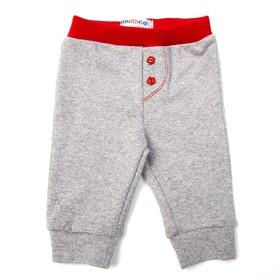 Штанишки детские, рост 74 см, цвет серый/красный 7400_М