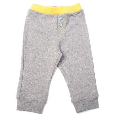 Штанишки детские, рост 74 см, цвет серый/жёлтый 7400_М