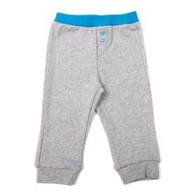 Штанишки детские, рост 74 см, цвет серый/синий 7400_М