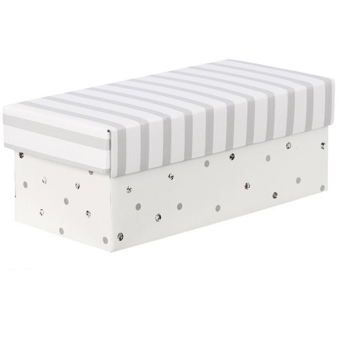 Складная коробка «В горошек», 26 х 14 х 10 см