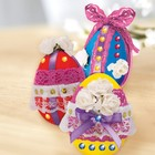 """Набор для декорирования яиц кружевом и лентами """"С Пасхой"""""""