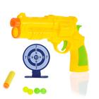 """Пистолет """"Патрульный"""", с мишенью, стреляет шариками и мягкими пулями, МИКС"""