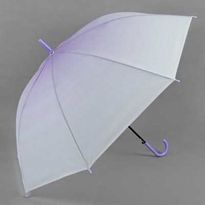 """Зонт -трость """"Градиент"""", полуавтоматический, R=46см, цвет фиолетовый"""