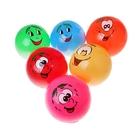 Мяч детский рожица d=22 см, 75 гр PVC в пак, цвета МИКС