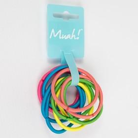 Резинки для волос Muah! цветные (набор 6шт), 4мм