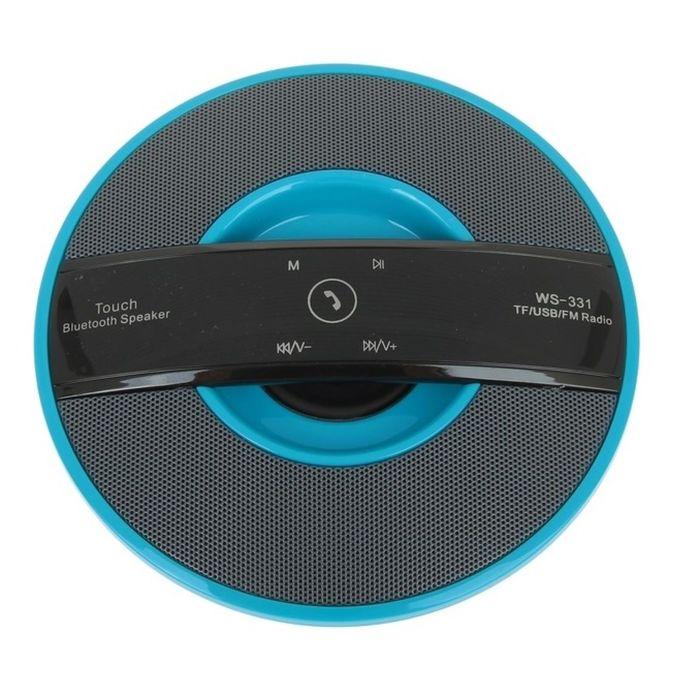 Портативная акустика WS-331, Bluetooth, USB, micro SD, FM, синяя