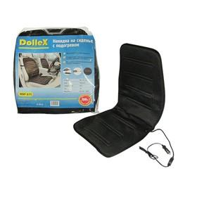 Накидка на сиденье с электроподогревом Dolleх, со спинкой, 950х470 мм, черная Ош