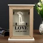 """Ключница дерево 6 крючков """"Ключи. Любовь"""" 26х19х6 см"""