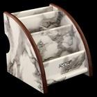 Органайзер, под серый мрамор, 4 секции 12*11,5 см