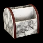 Органайзер, под серый мрамор, вращающийся, 4 секции 11,5*12 см
