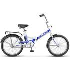 """Велосипед 20"""" Stels Pilot-410, Z011, цвет белый/синий, размер 13,5"""""""