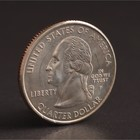 """Монета """"25 центов 2001 Вермонт США"""""""