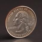 "Монета ""25 центов 2007 Вашингтон США"
