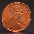"""Монета """"1 пенни 1971 Великобритания UNC"""