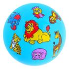 """Мяч """"Зверята"""", PVC, цвета микс, в пакете, диаметр - 23 см, 60 гр."""