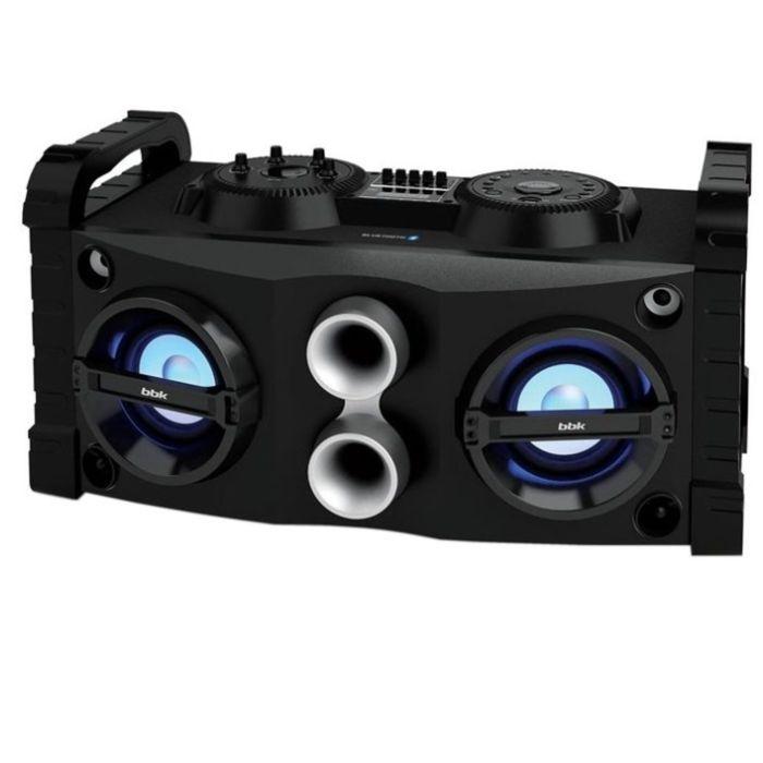 Минисистема BBK AMS115BT, 40 Вт, FM, USB, BT, черная/темно-синяя