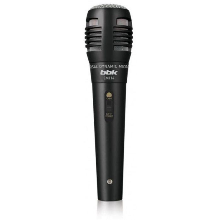 Микрофон проводной BBK CM114, 2.5 м, динамический, вокальный, черный