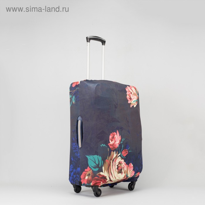 """Чехол для чемодана Цветы, 20"""", 36*24*49см, черный"""