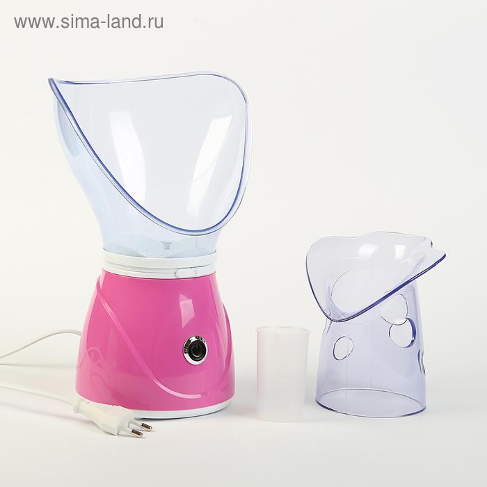 Luazon Home Сауна для лица LuazON LS-02, 150 Вт, 2 насадки, регул. мощности подачи пара, розовая 2541751
