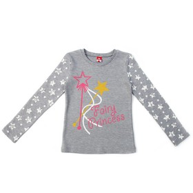 Джемпер для девочки, рост 98 см, цвет серый меланж CAK 61785