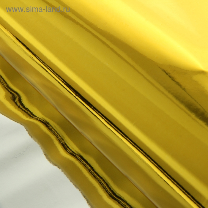 Бумага голография, цвет золотой 70 см х 100 см