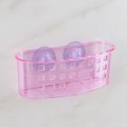 Держатель для ванных принадлежностей на присосках 16,5х7х6 см, цвет МИКС