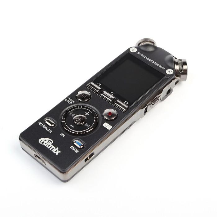 Диктофон RITMIX RR-989 4 Gb, MP3, дисплей с подсветкой, литий-полимерный аккумулятор