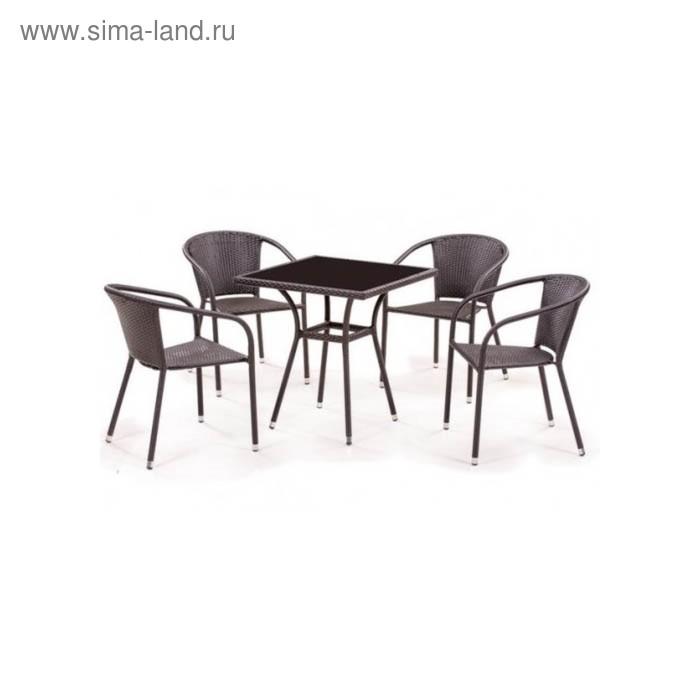 Комплект мебели из искусственного ротанга T282BNS/Y137C-W53 Brown (4+1)
