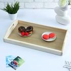 Поднос для завтрака со вставкой, цвет орех санома, 50х7х29,5см