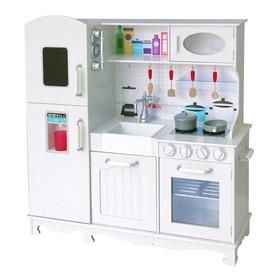 """Детская игровая мебель из дерева """"Модуль кухни"""" белый цвет"""