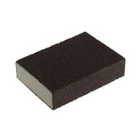 Губка шлифовальная TUNDRA basic, 100х70х25 мм, Р60/80, средняя жесткость Ош
