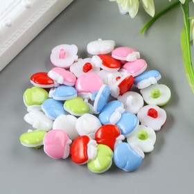"""Набор пуговиц декоративных пластик """"Яблочки"""" (набор 32 шт) 1,3х1,5 см"""