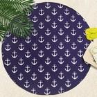 """Полотенце пляжное круглое Этель """"Blue Sea """", 150х150 см, 100 % п/э"""