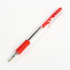 Ручка шариковая авт 0,5мм корпус прозрачный с резиновым держателем стержень красный CALLIGRATA 16